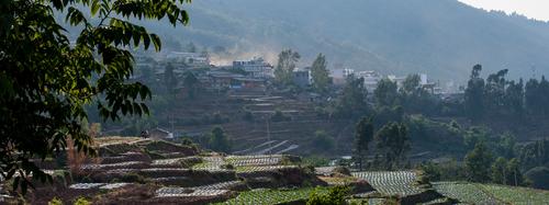 Picture: Jiyi lies high above the Jinshajiang.