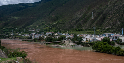 Picture: At the confluence of the Jinsha and the Zhibaluo River, Tuoding is an important trading town.