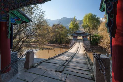 Picture: The old bridge at Shigu.