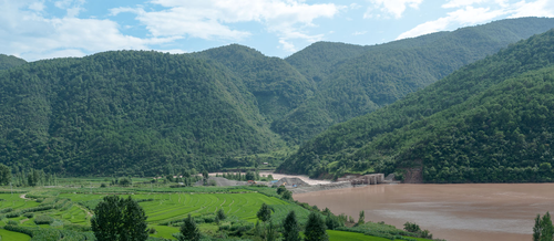 Picture: The Heihui River valley north of Liantie.