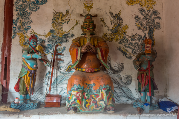 Picture: Deities inside Jijun Temple.