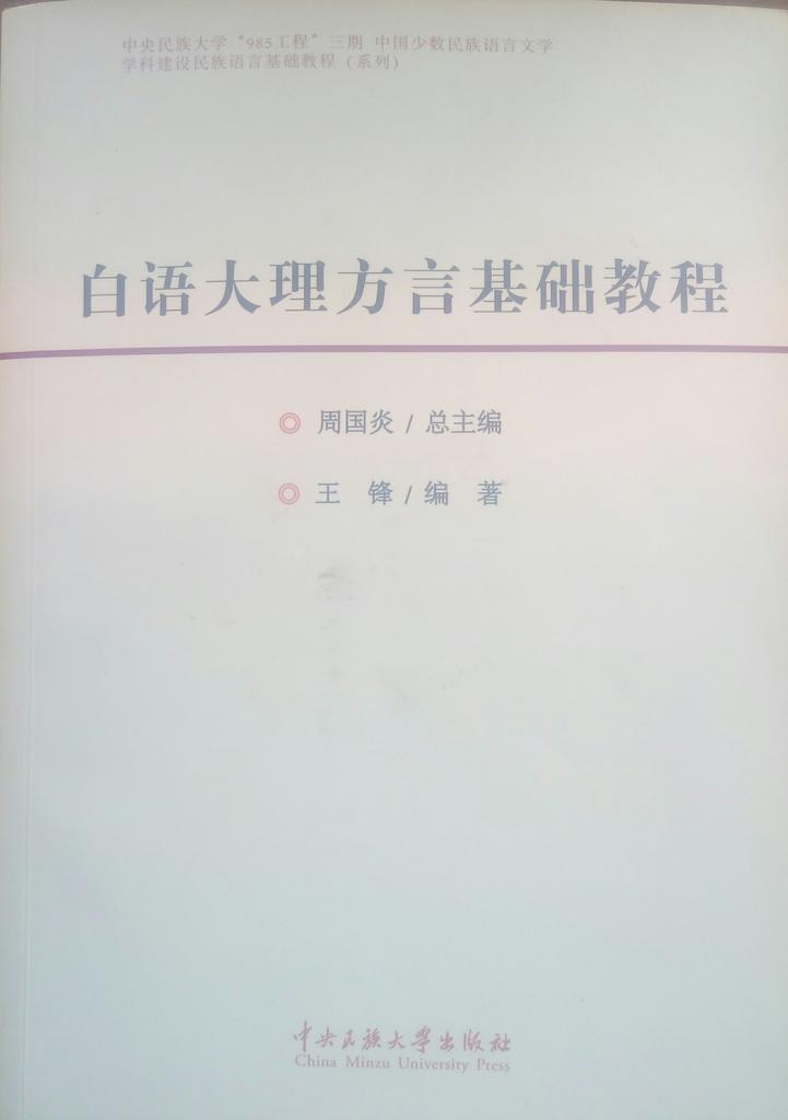 Book cover for 白语大理方言基本教程